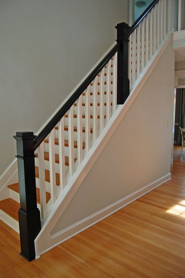 25 best ideas about wood stair railings on pinterest for Inside balcony railing