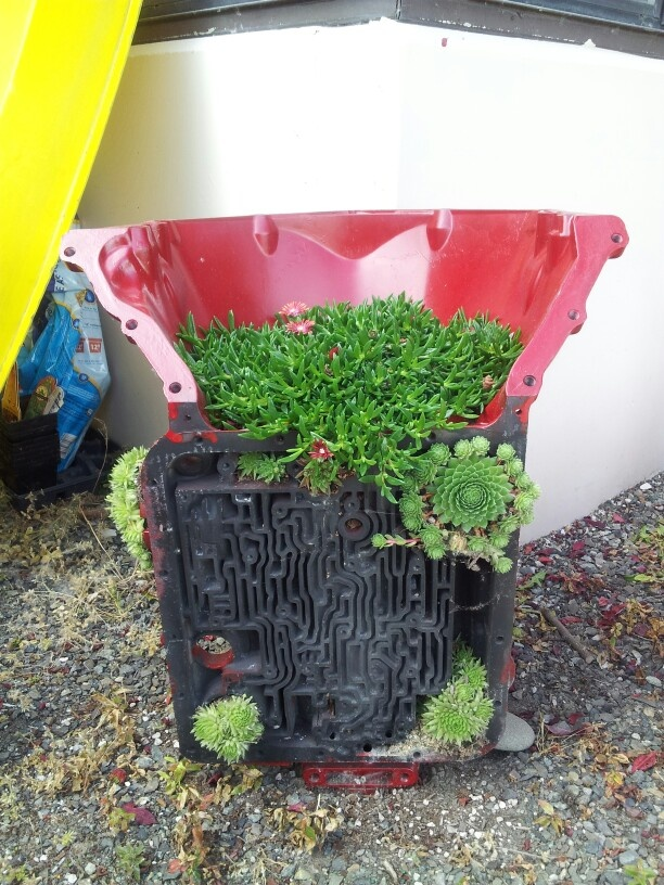 we own a transmission shop - I turned unbuildable cores into planters
