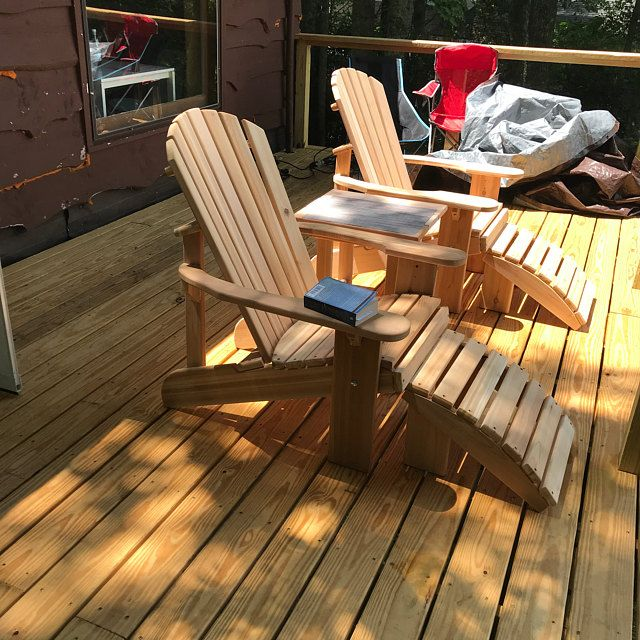 2 Adirondack Chairs Unfinished Kits Or Partially Assembled
