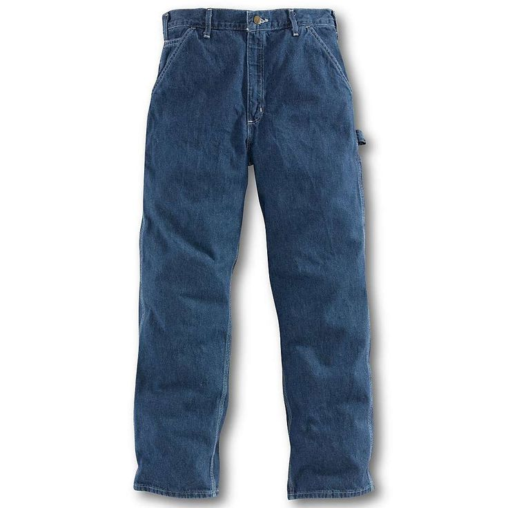 Carhartt Men's Loose Original Fit Work Dungaree Jean - 34x34 - Darkstone