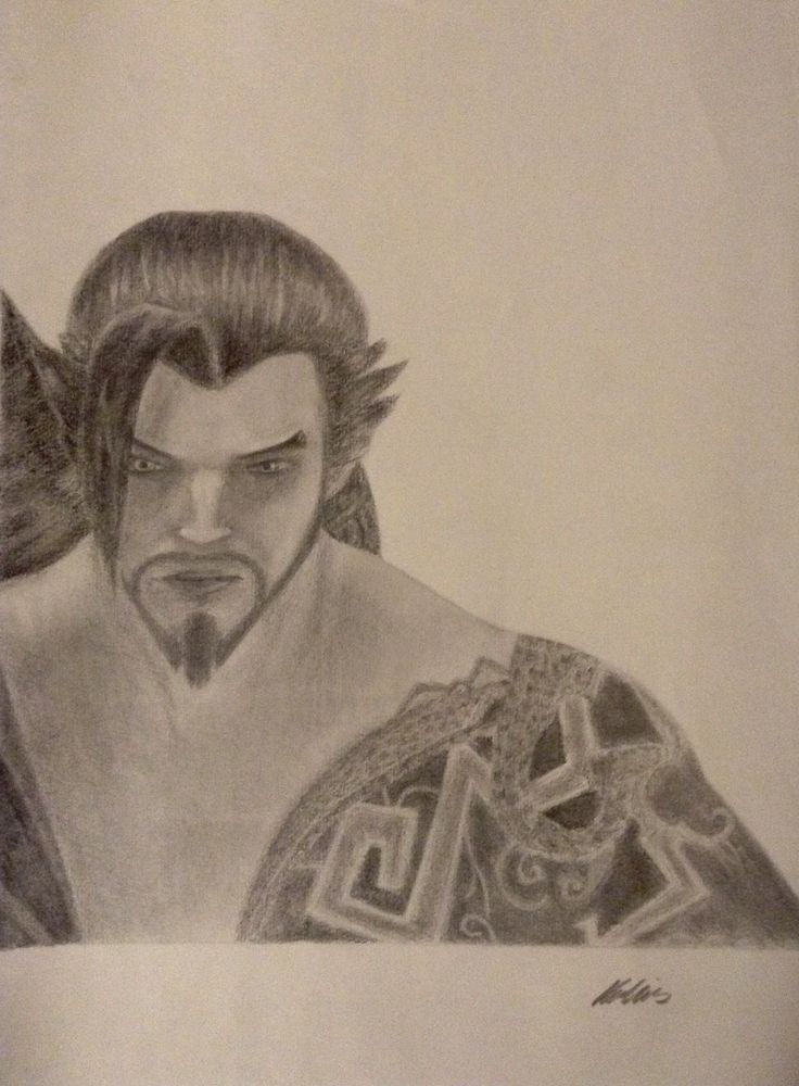 Overwatch-Hanzo drawing