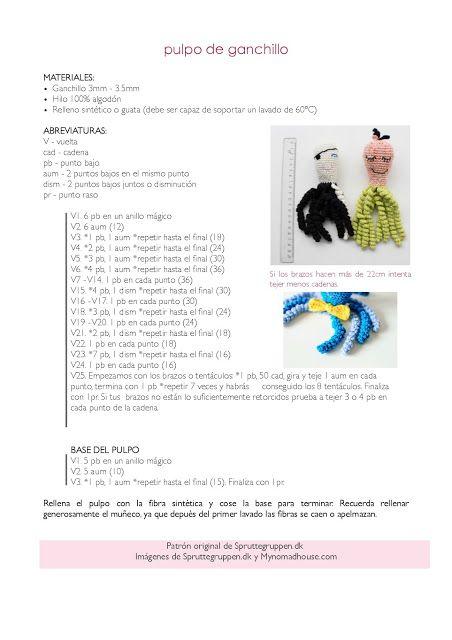 Amigurumi Websites : Las 25+ mejores ideas sobre Pulpo de ganchillo en ...