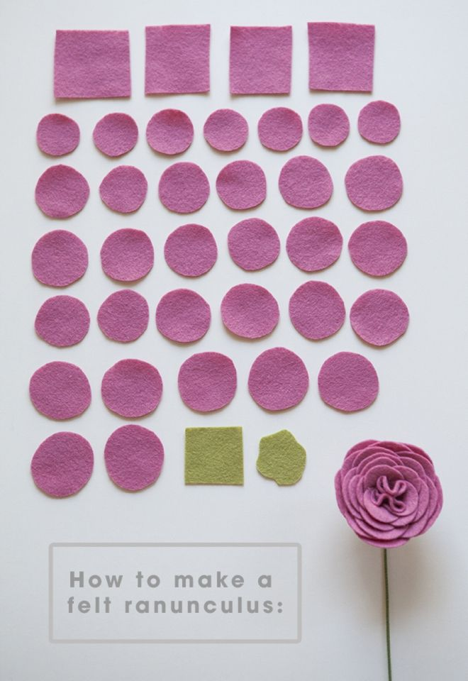 How to make felt ranunculus flowers                                                                                                                                                                                 More