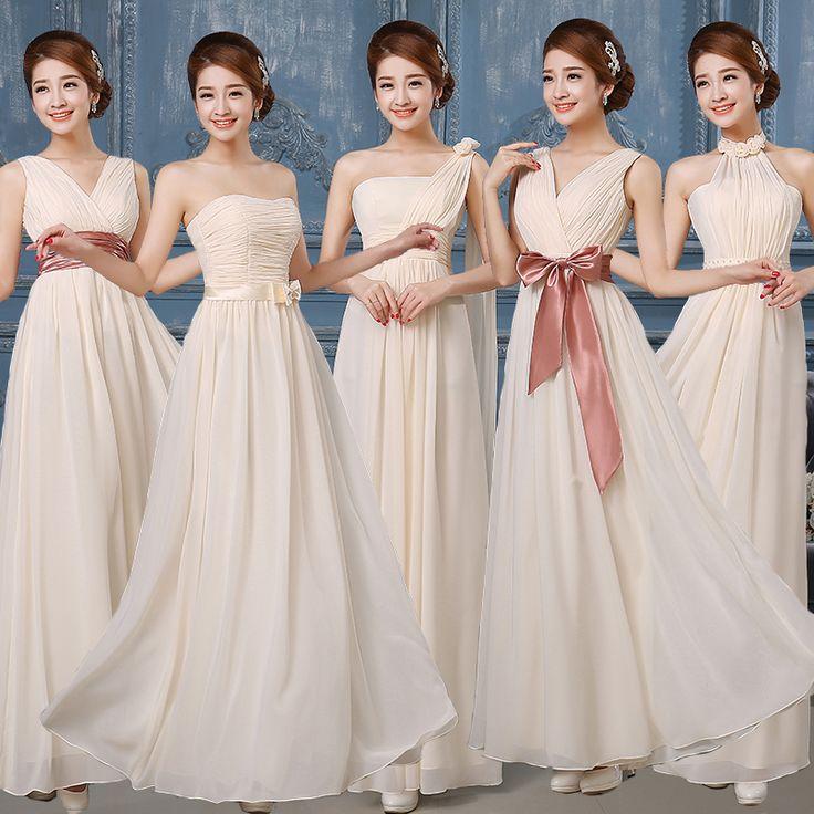 5 Styles Bridesmaid Dress Women Halter Beading Dress