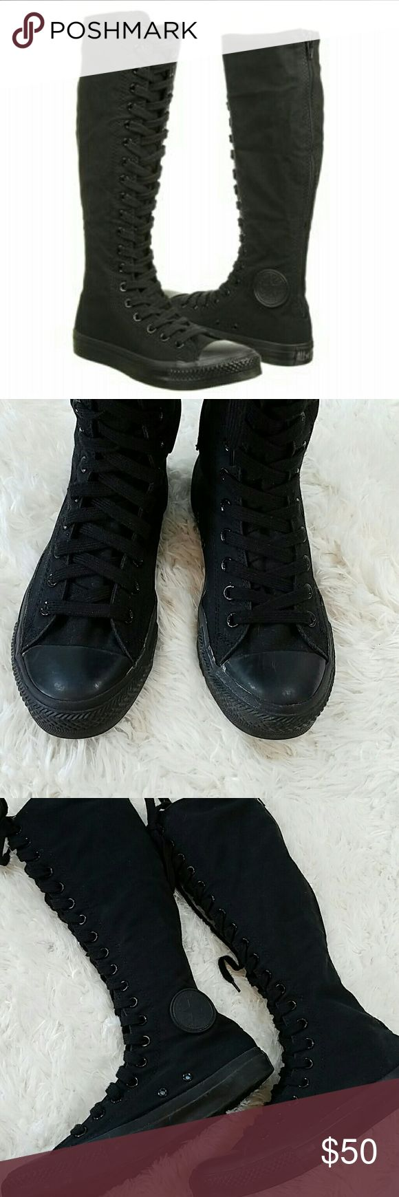 🍁 $35 SALE🍁Converse Knee High Sneakers Size 9 These are awesome!  Wear them with a short dress or a pair of leggings and a sweater. Converse Shoes Sneakers