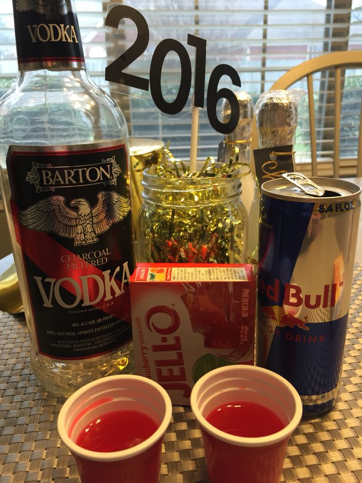 Party~Red Bull Jello Shots~1cup of Vodka 1cup of Red Bull and jello ...