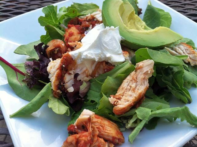 This chicken fajita salad is so simple that it is hard to call it a recipe, but it is a summer favorite at our house and very quick to prepare on a busy night!