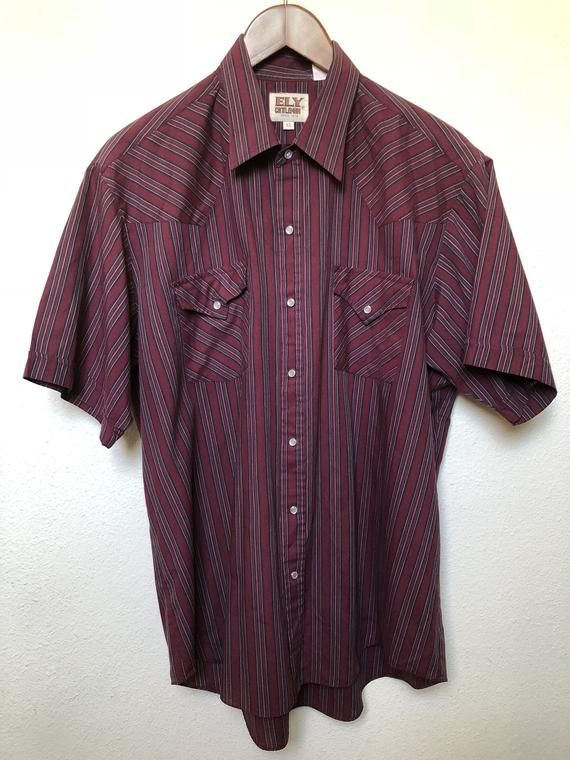 Western Cowboy Shirt Floral Burgundy /& Black Embroidered Ely Cattleman