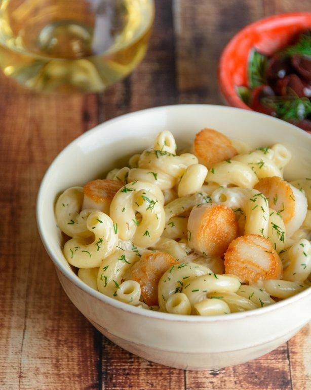 Seared Scallop Cavatappi in Creamy White Wine Sauce. Taking just 20 minutes to make and full of nutrients, this decadent dish only feels like a splurge.