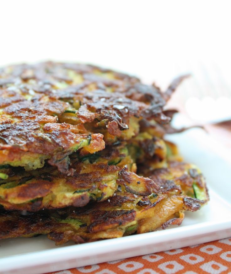 Zucchini & Sweet Potato Latkes | I Breathe I'm Hungry