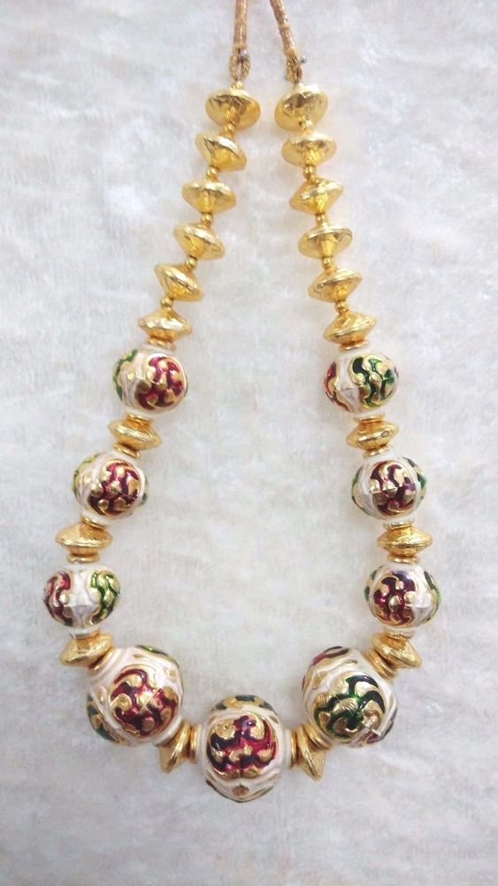 Bollywood Indian Necklace Traditional Party Casual Wear Gold Plated Meena Ball  #SparshJewels