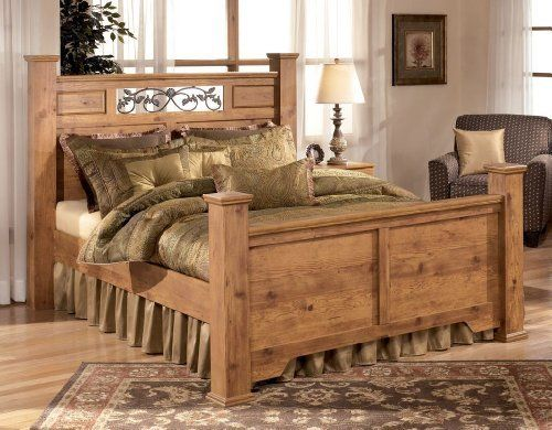 Queen Size Panel Bed in Maple Finish by Ashley Furniture by Ashley. $772.89. Durable construction. Raised panels on headboard. Rustic pine finish. Under bed storage and other matching accessories sold separately.. With beautiful country design of the Queen Size Panel Bed come to life with the rustic flowing details and warm inviting finishes to create the ultimate in relaxing bedroom decor. With the replicated pine grain covering the raised panel details perfectly compleme...