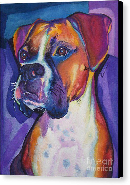 Boxer Dog Portrait Canvas Print Canvas Art By Robyn