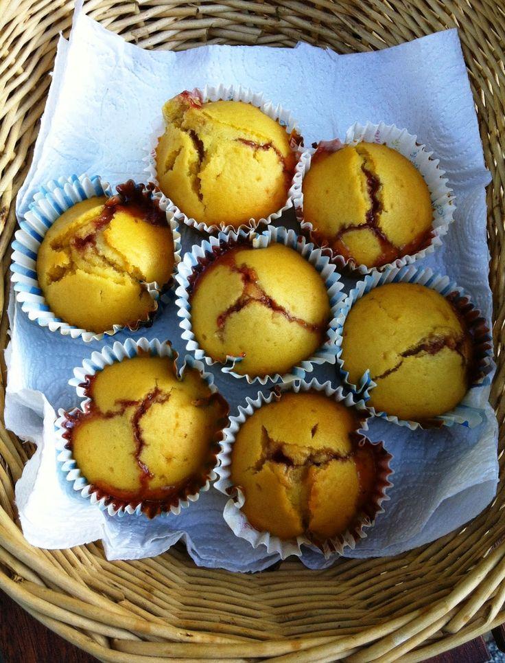 Mini muffins fourrés à la confiture de fraise, version allégée, spécial WW!