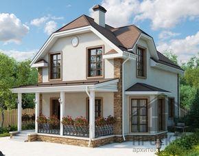 Проект дома  из блоков 10-2140
