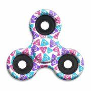 Tri Fidget Hand Spinner Squad ( Top Trenz Emoji Auqa Pink Purple Poop ) High Speed & Longest Spin Time Toy Stress Reducer Ball Bearing High Speed Spinners