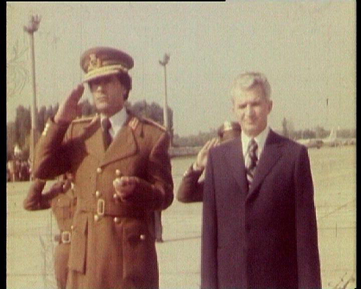 Ceausescu and Colonel Gaddafi