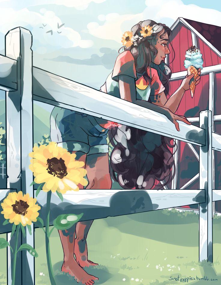 Steven Universe Fan Art! — snotpuppies: Enjoying being together