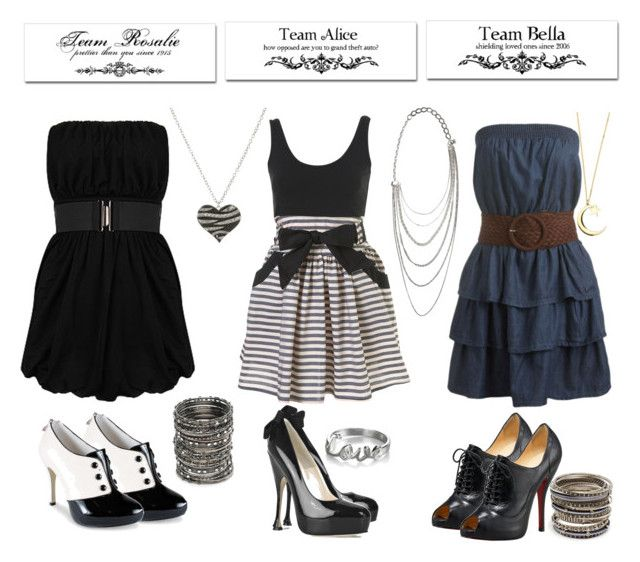 """""""twilight outfits"""" by lr23 ❤ liked on Polyvore featuring Annie Greenabelle, Wet Seal, Forever 21, B. Ella, Brian Atwood, Christian Louboutin, Nude, Amrita Singh, Luis Morais and Maria Zureta"""