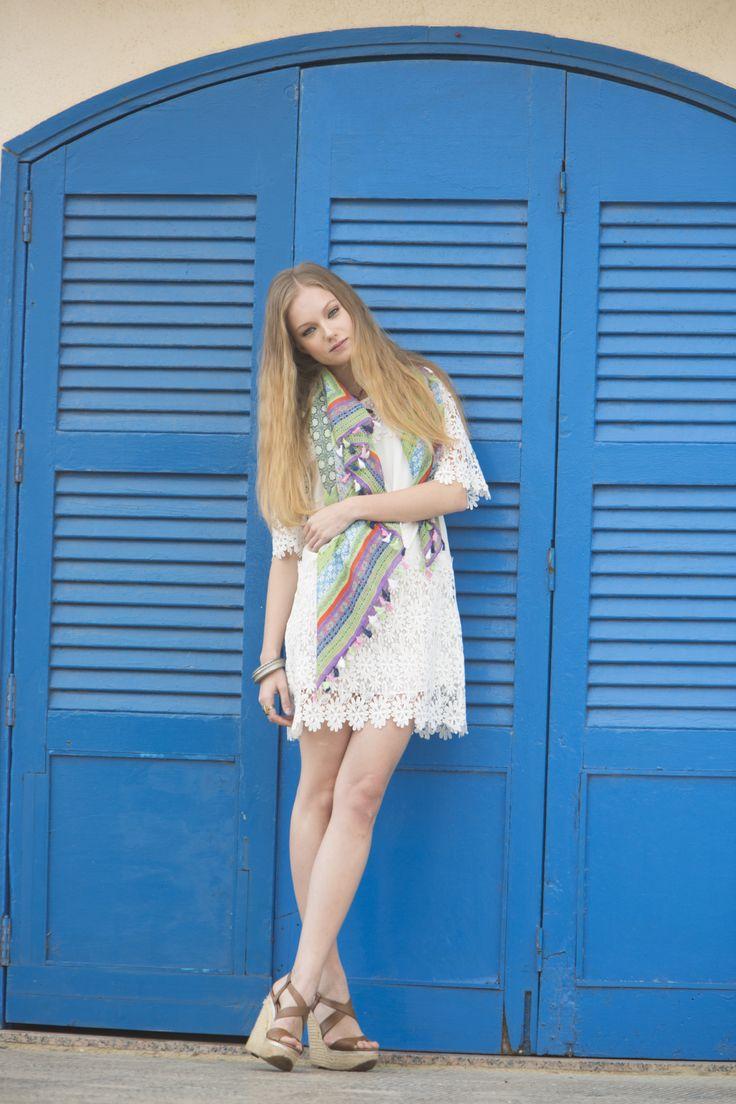 Vestido Morrito, vestido blanco y fresquito Fresh with dress #vestidoblando #guipur