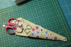 Molde Porta Tesoura em tamanho original , a photo by Fio da Ideia  on Flickr.