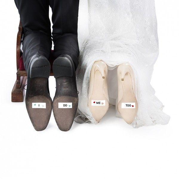 Secret love shoe stickers- Just married