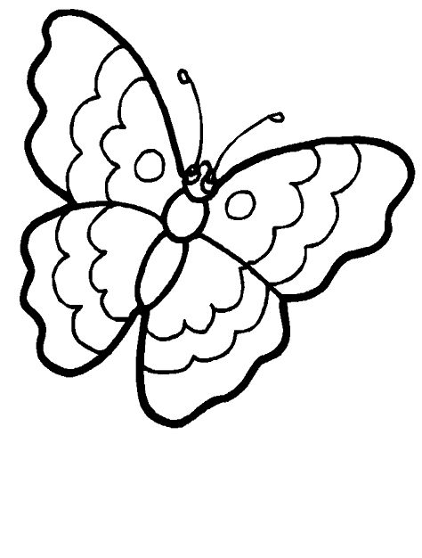 free simple butterfly coloring pages - photo#9