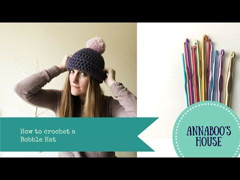 How to crochet a Bobble Hat - YouTube