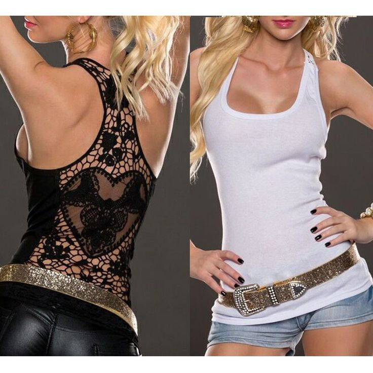 Women Crop Top Sexy Lace Tops 2017 summer Lace Vest  Sexy Women Lace Back Tank Tops Vest Blouse Sleeveless Shirt plus size Vest #Affiliate