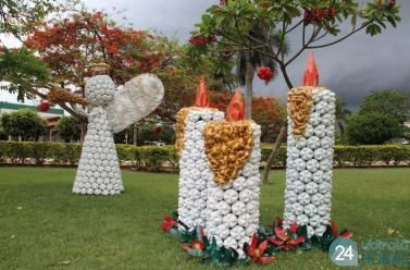 Departamento de Cultura de Nova Ubiratã transforma garrafas pet em enfeites natalinos e encanta moradores - A Verdade dos Fatos