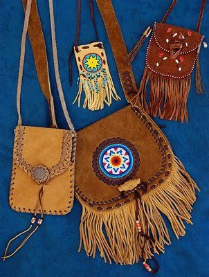 Native American leather purses.