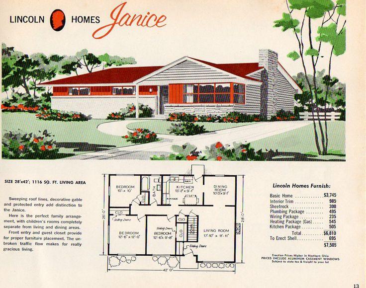 15 best 1950s house plan books images on Pinterest | 1950s house ...