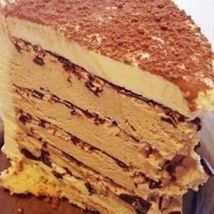 Кофейный торт с шоколадом