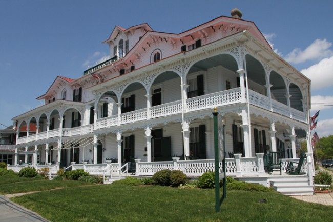Chalfonte Hotel, Cape May, NJ. Established 1876 and  recognized as the oldest continuously operating hotel in Cape May, NJ.