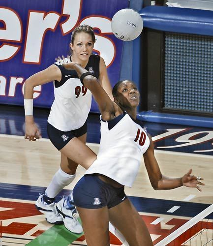 Dominique Lamb, Chandler High School graduate, is part of the Chandler Sports Hall of Fame.  Lamb is a professional volleyball player who played for University of Arizona and played abroad. #volleyball #athletics #UniversityofArizona