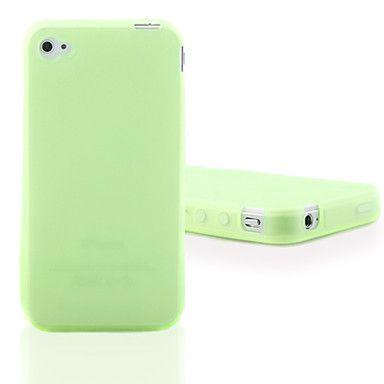 Case de Silicone para iPhone 4 e 4S - Verde Fluorescente – BRL R$ 7,29
