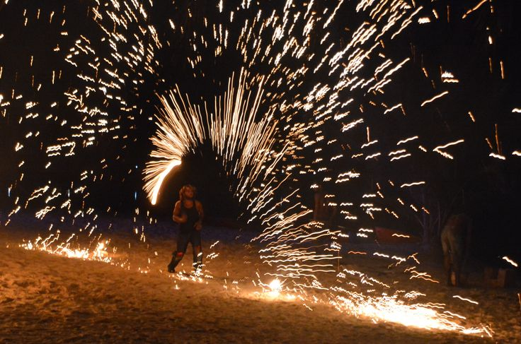 Fire Show at Holiday Inn Resort Vanuatu is a 'must do'!  #vanuatu #holidayinnresort #fireshow