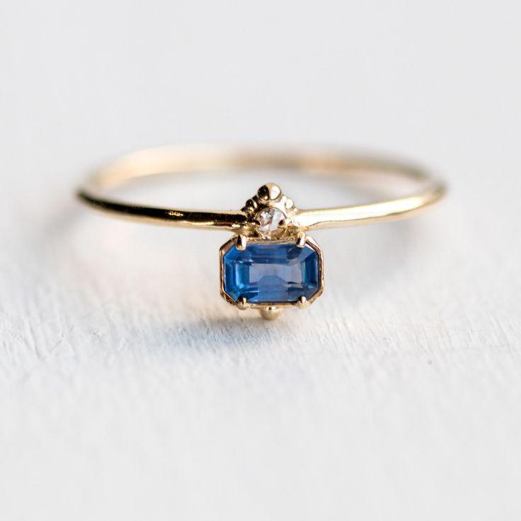 Daybreak Ring in Blue Sapphire