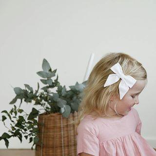 White girls sailor bow. Lulu and Milly - Australian made organic childrens headbands leggings