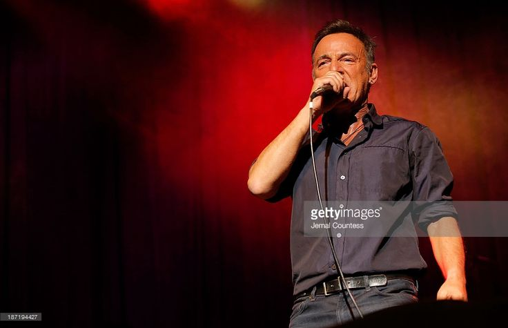 Bruce Springsteen performs at the 7th annual 'Stand Up For Heroes' event at Madison Square Garden on November 6, 2013 in New York City.