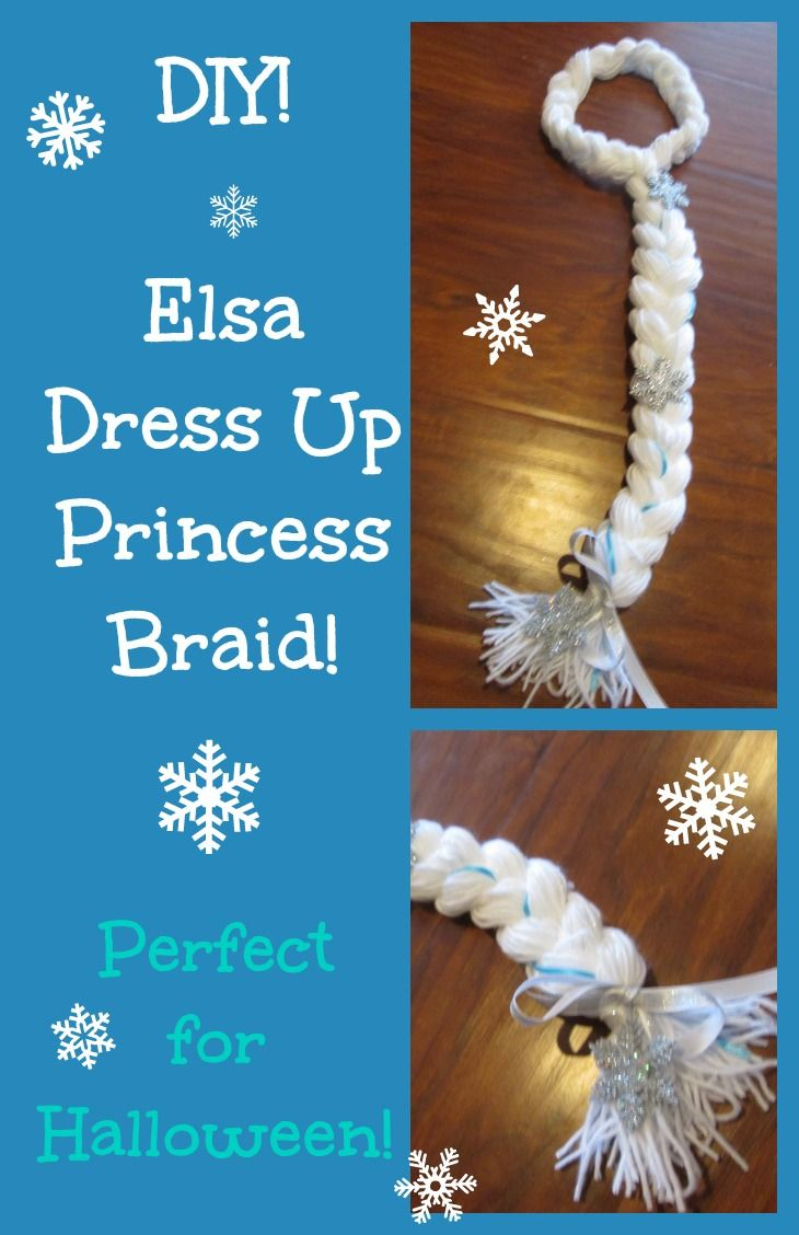 Elsa Dress Up Princess Braid! Perfect for dress up play or for Halloween! My girls love to dress up, and this dress up wig has been a big hit! Just change the color yarn, and you can make Rapunzel, Anna, and more! www.youtube.com/beingmommywithstyle ~ Being Mommy with Style