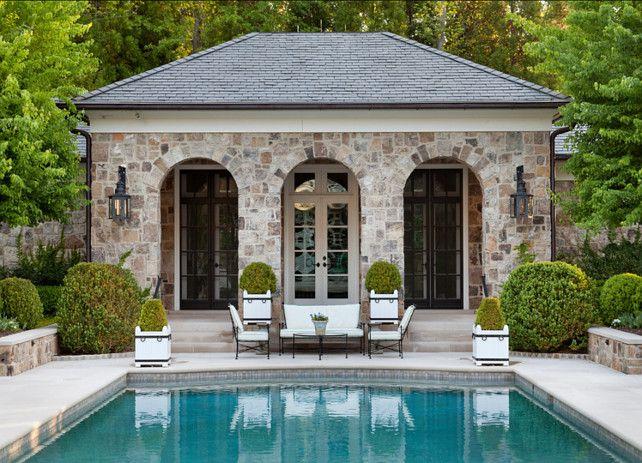 Pool Terrace and Pool House. #Pool #PoolHouse #Terrace