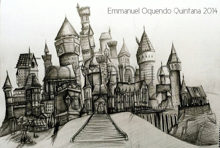 Hogwarts Castle- Sketch by Emmanuel-Oquendo on DeviantArt
