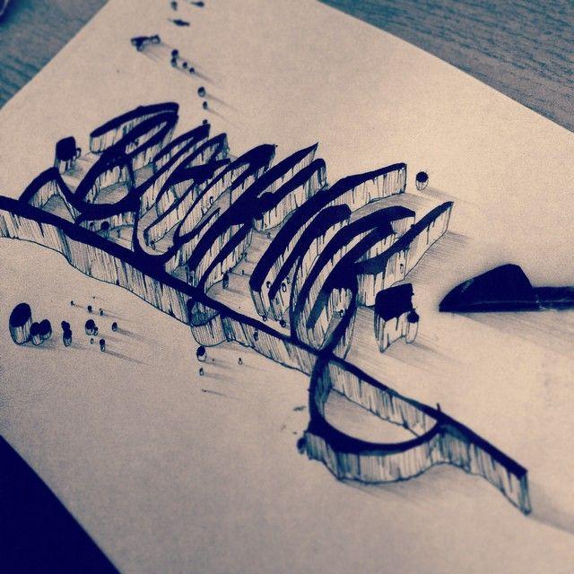 Black Ink! Trying my homemade cola pen, very hipster. #colapen #typography #3D #typografi #type #typeblog #typespire #typographyinspired #thedailytype #blackink #calligritype #showusyourtype #handlettering #nosketchneeded #tottohästdesign