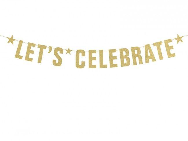 Girlang let´s celebrate Guld 49 kr från Kalasdekorationer