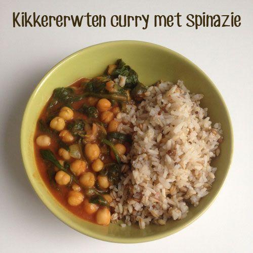 Kikkererwten curry met spinazie http://wateetjedanwel.nl/kikkererwten-curry-met-spinazie/