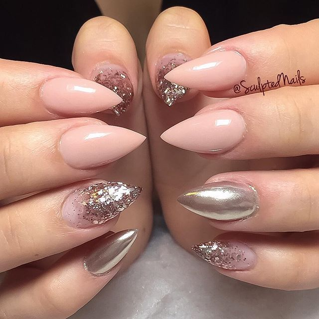 Glitter Nails Manicure Makeover Game For Girls By: 25+ Best Ideas About Rose Gold Glitter Nails On Pinterest