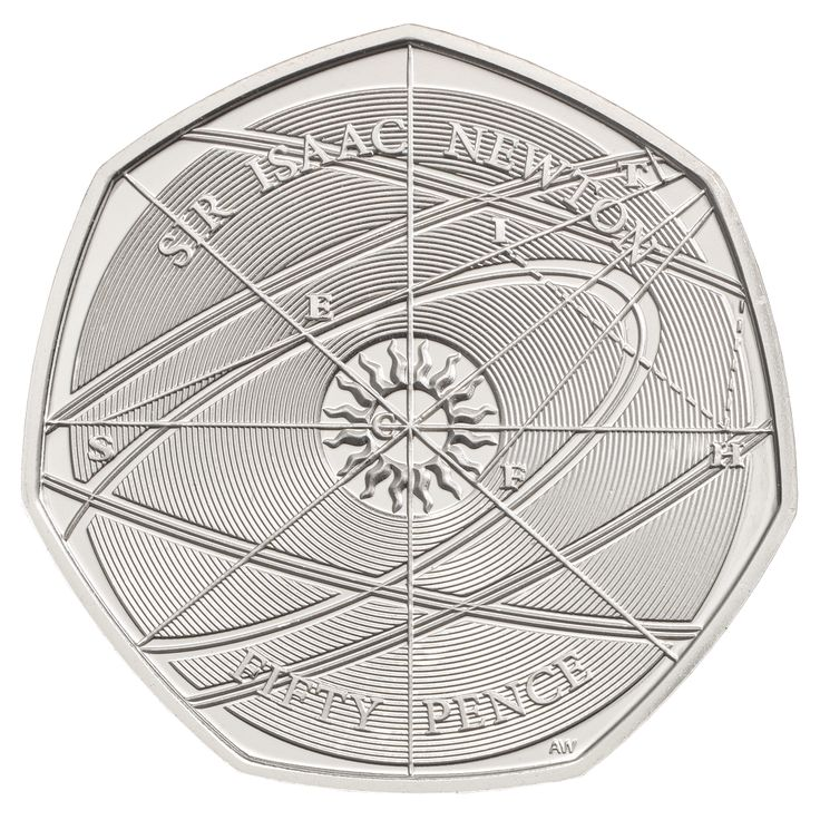 The Sir Isaac Newton 50p coin marks the achievements of one-time Master of The Royal Mint, Sir Isaac Newton, who was pivotal in improving assaying techniques and refining weights and measures to an exacting standard never seen before, as well as undertaking pioneering work in the fields of physics and astronomy for which he is more widely known.