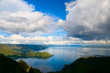 Lake Toba , Indonesia. -- We  went to this place  for  honeymoon in  1991 .