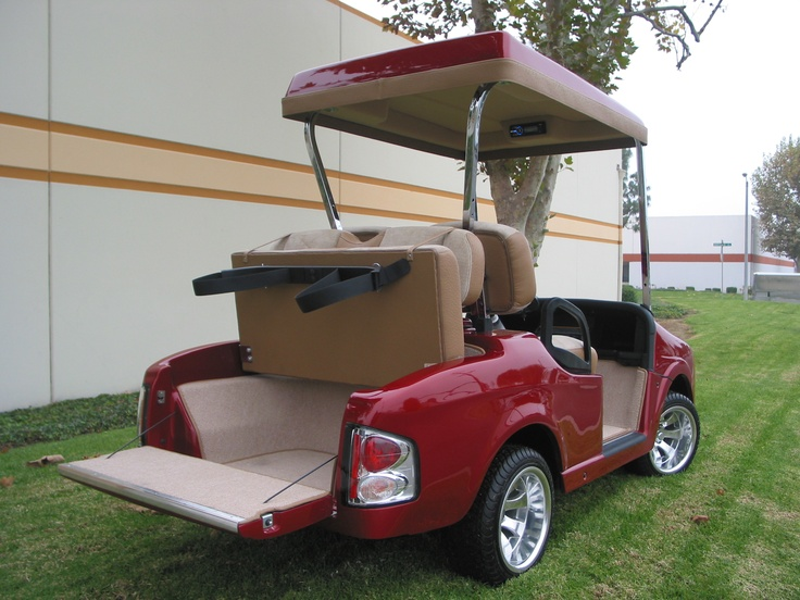 Bentley front body kit with a 4-Passenger rear on a E-Z-GO RXV golf car